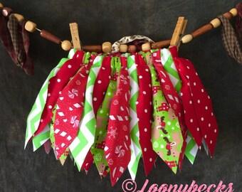Christmas Fabric Scrap Tutu