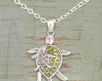 Mom and Baby Turtle Necklace