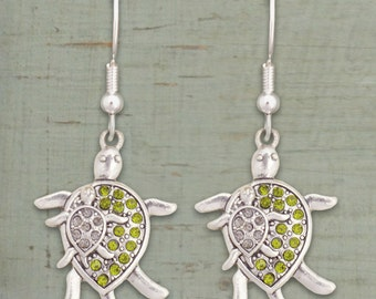 Mom and Baby Turtle Earrings
