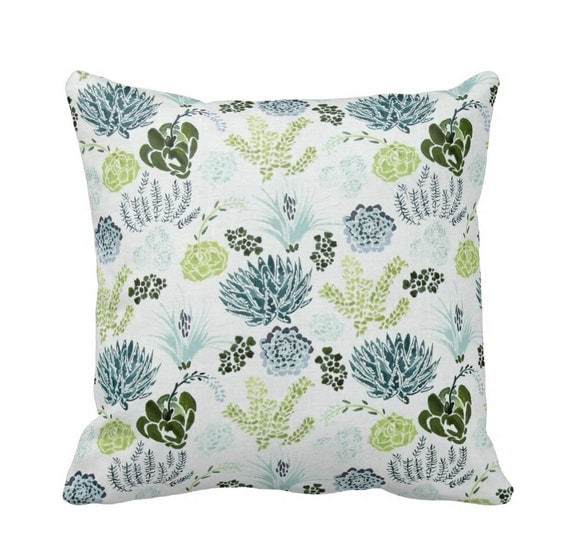 Succulent Zippered Throw Pillow Cover by Primal Vogue Sizes
