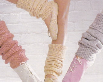 Vintage knitting pattern leg warmers three sizes pdf INSTANT download pattern only pdf 1980s