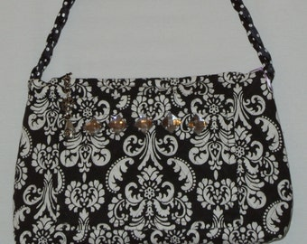 Black and White Quilted Purse