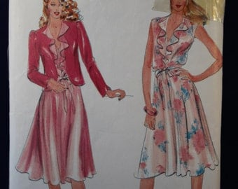 Sewing Pattern Butterick 3573 for a Woman's Dress and Jacket in Size 8-10-12