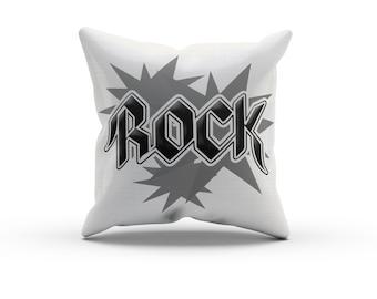 Black and White Rock Pillow, Nursery Pillow,Throw Pillow, Kids Throw Pillow, Children's Rock Star Pillow