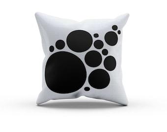 Geometric Black and White Circles Pillow, Nursery Pillow,Throw Pillow, Kids Throw Pillow, Children's Circles Pillow