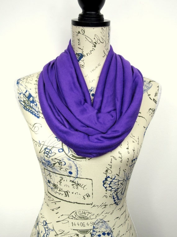 Purple Tube Scarf - Solid Infinity Scarf - Fashion Circle Scarf - Fabric Loop Scarf - Women Infinity Scarf - Fall Circle Scarf - Gift Idea