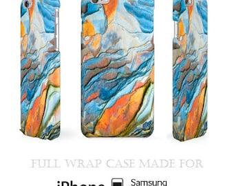 Mimesis iPhone 5C Case Geometric iPhone 6 Case Impressionistic Galaxy S5 Case Futuristic Cell Cover Full Wrap 3D Watercolors iPhone 6 Case