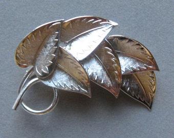Coro Leaves Brooch