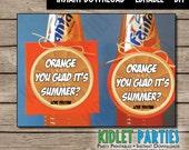 "EDITABLE Teacher Appreciation Tags 3"" circles/cupcake circles - Orange you glad it's summer?"