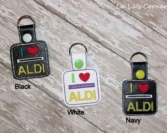Quarter Keeper Keychain - I LOVE ALDI
