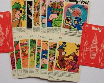Huckleberry Hound Card Game, Hucky card game, German cards, Schwarzer Peter card,