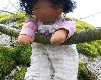 "19-20 inch ""Shani"" organic Waldorf Baby doll Nukino doll"
