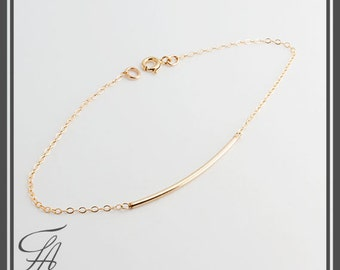 Gold Ankle,Tube Ankle, Minimalist Jewelry,Handmade Ankle,Stackable Ankle,Gold Jewelry,Gift For Her,Lariat Ankle