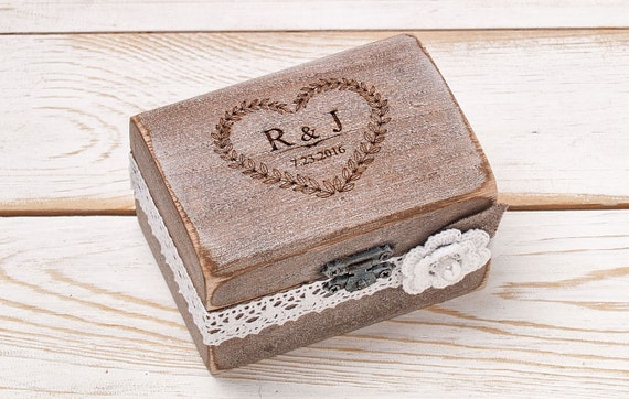 Wedding Ring Bearer Box Wedding Ring Box Rustic Ring Box