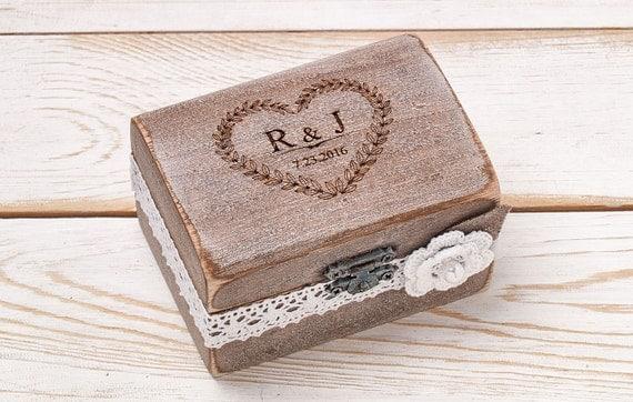ehering tr ger box ehering box rustikalen ring box. Black Bedroom Furniture Sets. Home Design Ideas