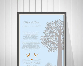 Wedding Thank You Gift for Parents from Bride and Groom Mother & Father In Law Gift Wedding Gift from Couple - 43477S