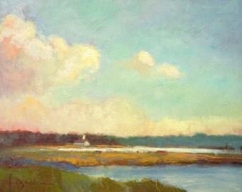Evening Mystery | Coastal Landscape Painting by Dorothy Fagan