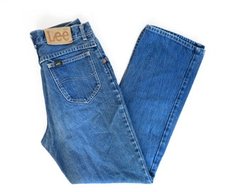 Vintage Lee High Waisted Classic Blue Jeans Size 30x30.5