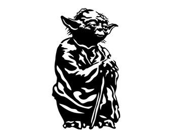 Yoda Vinyl Decal Sticker Window Wall Bumper Laptop Macbook Star Wars Return of the Jedi Empire Strikes Back