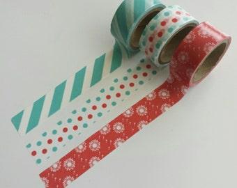Washi tape set (3 rolls)