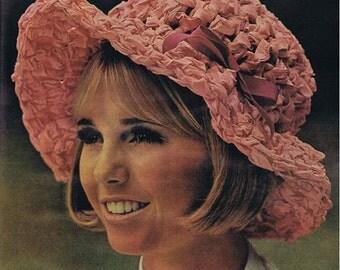 Crochet HAT Pattern Crochet Hatband Pattern Vintage 70s