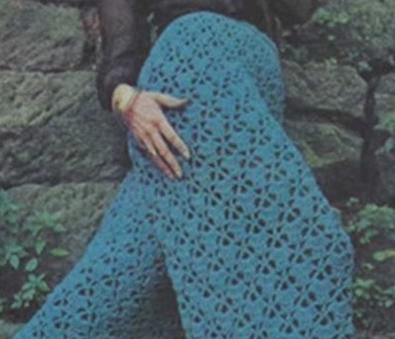 Items similar to Crochet Pants Pattern Vintage 70s Crochet ...