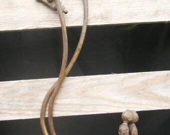 A Pair of French Vintage Curtain Tie Backs, Brass Tiebacks, Decorative, Antique Tiebacks, Hold Backs, Ormolu, Bronze, Hooks, Chateau Chic