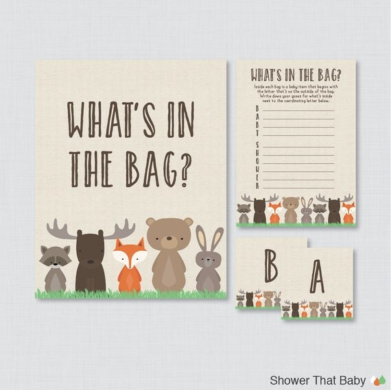 baby shower bags game printable guess what 39 s in the bag game