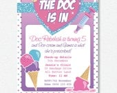 The Doc is in Party Invitation |  Personalised Digital file