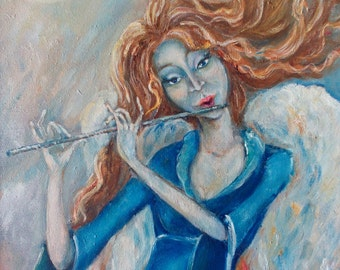 "Oil painting "" Melody angel """