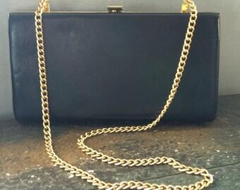 Vintage Navy Blue Clutch Purse handbag