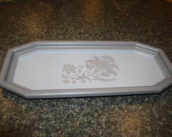 Upcycled Hand Painted Wood Vanity Tray
