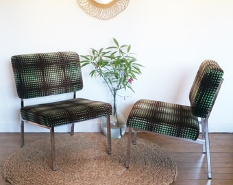 Mid century armless chairs