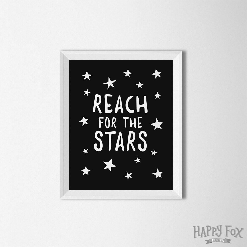 Printable Room Decor Reach For The Stars Stars Print Nursery Printable Nursery