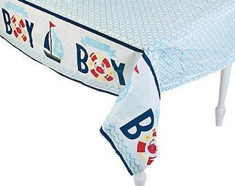 Nautical Baby Boy tablecloth / Nautical theme / Baby Shower
