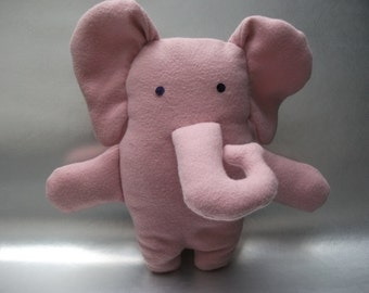 Cuddly Elephant Pink with glittery eyes