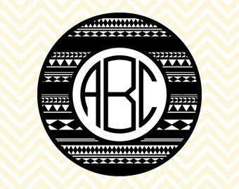 Tribal Monogram SVG, DXF Files for Cricut Design Space, Silhouette Studio, Die Cut Machines, Instant Download of svg, dxf, & jpg