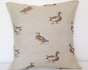 Ducks Cushion Cover, Ducks Pillow Cover