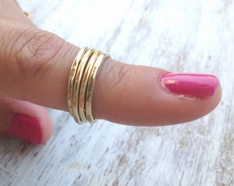 gold ring,simple ring,knuckle ring,simple gold ring,hammered ring,gold stacking ring,gold ring for women