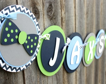 Little Man Baby Shower Banner - Bow Tie Baby Shower or First Birthday Party Decoration - Little Gentleman - Baby Boy - Couples Shower