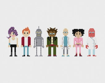 Futurama Cross Stitch Pattern PDF Instant Download
