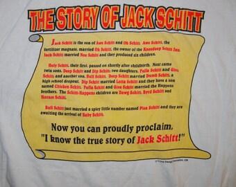 90's i know jack schitt t-shirt size extra large