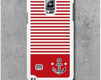 Samsung Galaxy Note 4 Case Red Anchor Marine