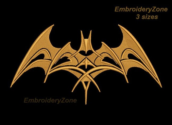 logo tribal batman in style tattoo large embroidery machine. Black Bedroom Furniture Sets. Home Design Ideas
