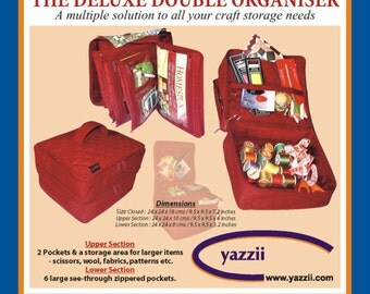 Yazzii Deluxe Double Organiser - Black Colour