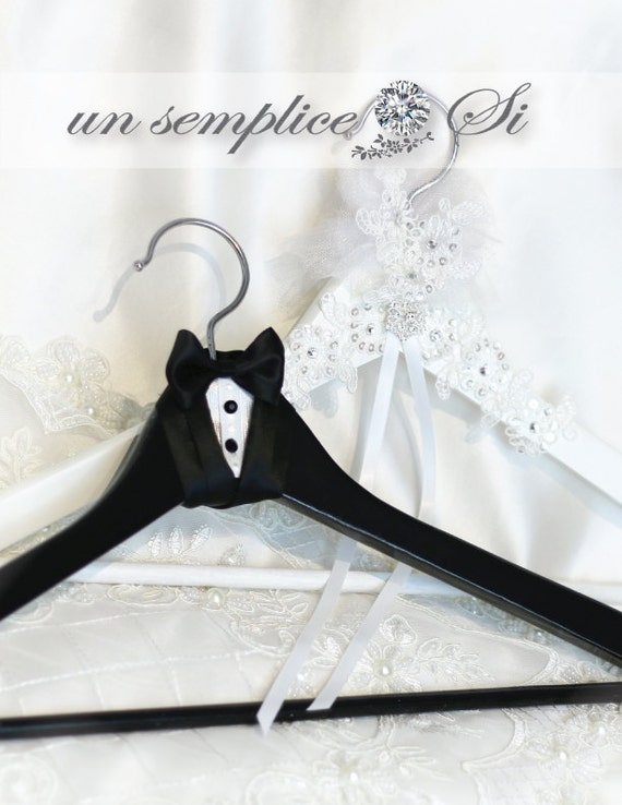Expensive Wedding Gifts For Bride And Groom : Bride and Groom Wedding Hanger, His and Hers