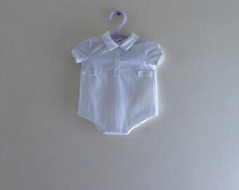 Formal Baby Boy Onsie - Newborn Size
