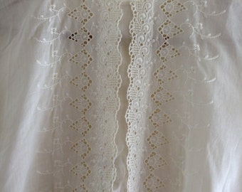 Sheer Embroidered Blouse - Size 36