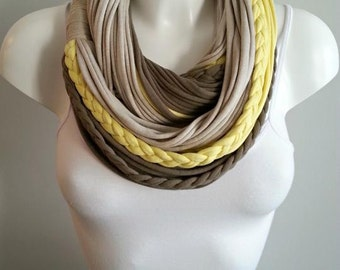 SALE - t shirt scarf, t shirt infinity scarf, t shirt scarf, fabric scarf, cotton fabric scarf