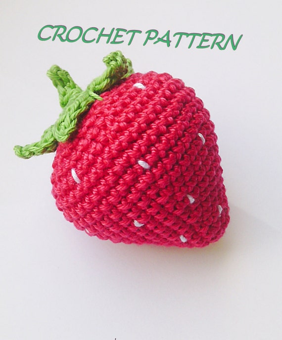 Crochet Beach Bag Pattern : Crochet Strawberry PatternBean Bag Toycrochet